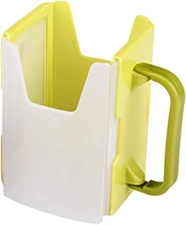 Adjustable Baby Infant Toddlers Kids Milk Carton Cup Holder for Drinking Training(Green)