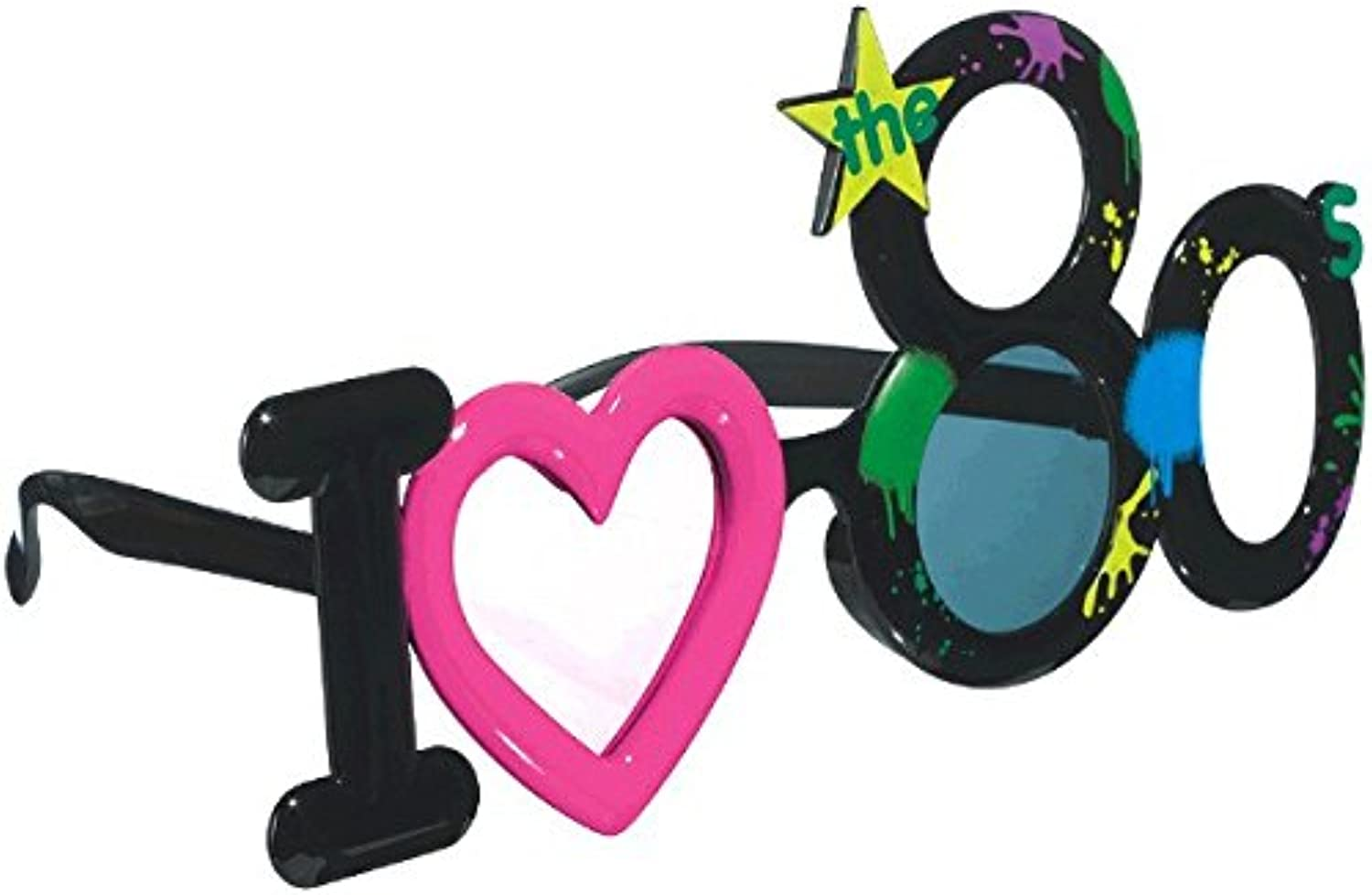 Amscan Stylish Birthday Party 80s Fun Shades, Multicolor, One Size