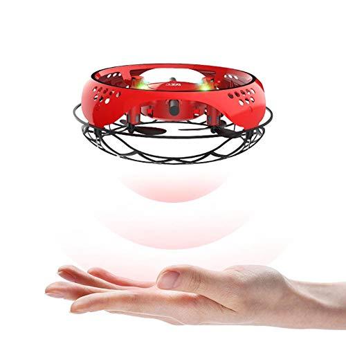 UFO Mini Drohne, Kinderspielzeug Handgesteuerte Quadcopter Infrarot-Induktions-Fliegender Ball mit LED Fliegendes Spielzeug Geschenke für Jungen Mädchen Indoor Outdoor Flying Ball