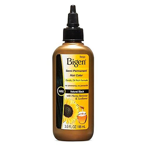 Bigen Coloration capillaire semi-permanente - Formule douce enrichie en miel, cire d'abeille et huile de tournesol - NB2 Noir naturel - 90 ml
