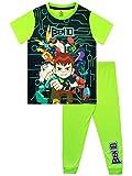 Ben 10 Pijamas de Manga Corta para niños Verde 9-10 Años