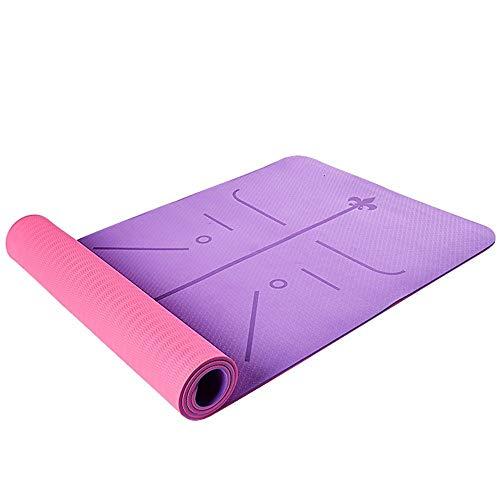 KOXG-S Alfombra de Yoga TPE Antideslizante Estera De Aptitud Estera del Piso Ampliado Espesa Inicio Principiante Yoga Pilates Mat Esteras