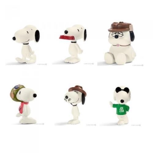 Set von 6 Figuren 5cm Snoopy UND Freunde Peanuts and Friens OFFIZIELLE Schleich 22060