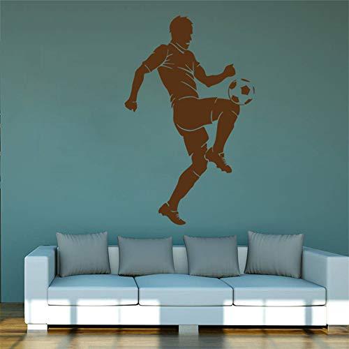 Calcomanía de pared HNXDP Juego de equipo deportivo de fútbol europeo Juego de dormitorio para niños Calcomanías para habitación de niños Living grey 58 X 37 CM