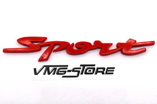 3D Sport Emblem Rot ABS Kunststoff mit Schaumstoff-Kleberückseite Badge von VmG-Store