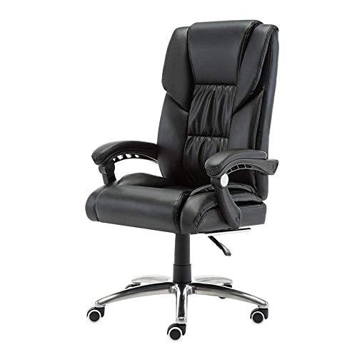 TXX Chefsessel mit verstellbarer Rückenlehne, PU-Leder, Gaming-Schreibtischstuhl, doppelte dicke Polsterung, ergonomischer Drehstuhl, Tragkraft: 150 kg, ohne Fußstützen, ohne Fußstützen