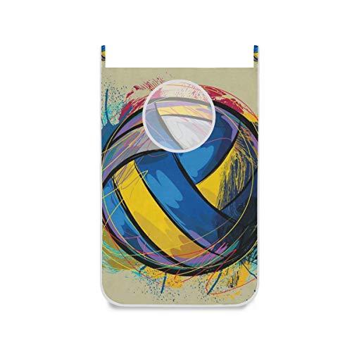 Bolsa para cesto de lavandería para colgar, especial, colorida, para puerta / pared / armario, para colgar la ropa, cesta para ropa sucia, organizador de almacenamiento, ahorro de espacio para el dorm