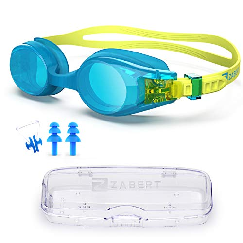 ZABERT KX Baby Toddlers Swim Goggles,Swimming Goggles for Age 0-5 Years Blue
