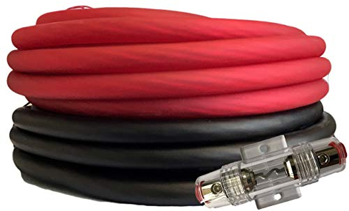 SoundBox Connected 4 Gauge Red/Black Amplifier Amp Power/Ground Wire Set 50 Ft