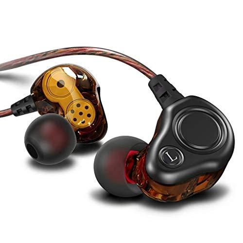 Wired Earphones,in-Ear Monitor metal Earbuds,Double Dynamic Drives Earphone,Noise Cancelling Waterproof Sports Earphones…