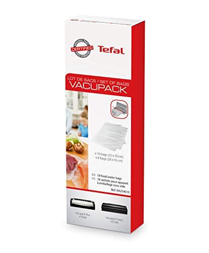 Tefal XA2540 Zubehör für Vakuumierer, Set mit 18 x Tüten