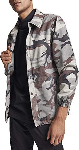 Urban Classics Herren Cotton Coach Jacket Jacke, Mehrfarbig (Grey Camo 00866), L
