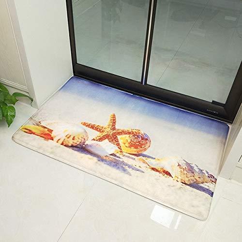 Alfombras de baño de estilo mediterráneo devarios tamañosJuego de alfombrillas de baño Espesar Alfombras de piso de baño impresas en 3D Alfombras de inodoro Felpudo de inodoro - 0508,50x80cm 1pcs