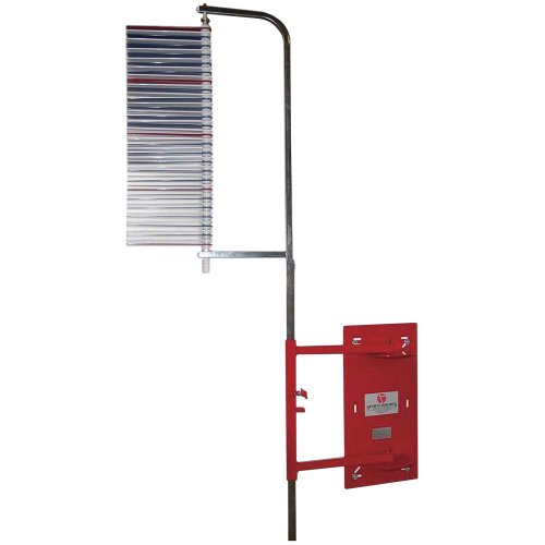 Jump USA Wall-Mounted Vertec, 6 to 12 Foot Vertical Jump Tester, Red/Silver (22560)