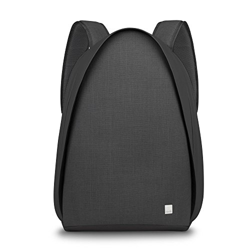 Moshi Smarter urbaner Rucksack von Tego für Laptops bis zu 15 Zoll - Anthrazitschwarz