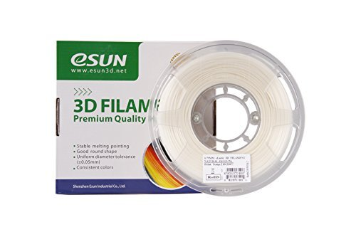 eSUN Elastic TPE 85A 1.75mm Flexible 3D Printer Filament Natural 1kg (2.2lbs) Spool, Natural White
