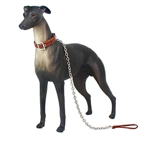 Gemini\u0026amp;Genius Pet Dog Greyhound Greadog Simulation Animal Model Action \u0026amp; Toy Figures Classic Toys Kids Toddler Nature Learning Toys for Home Decor Collectibles (Black Greyhound)