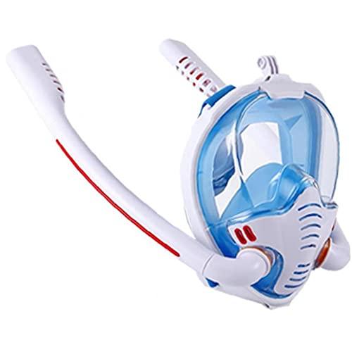 Froiny Natación Máscara Doble Tubo De Respiración para Adultos En Seco De Silicona Completo De Snorkel Máscaras Buceo Gafas De Equipos