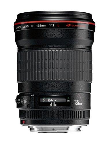 Canon Tele- und Porträtobjektiv EF 135mm F2.0L USM für EOS (Festbrennweite, 72 mm Filtergewinde, Autofokus), schwarz