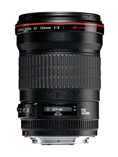 Canon Tele- und Proträtobjektiv EF 135mm F2.0L USM für EOS (Festbrennweite, 72 mm Filtergewinde, Autofokus) schwarz
