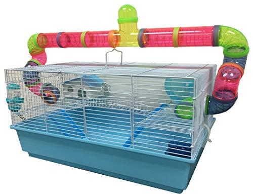 New Large Long Crossover Tube Habitat Hamster...