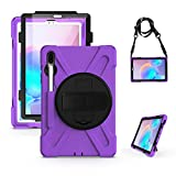 Samsung Galaxy Tab S6 Case with Screen Protector, Herize SM-T860/T865/T867 Shockproof Durable Case with Pencil Holder & 360 Stand & Hand Strap & Shoulder Strap for Galaxy Tab S6 10.5' 2019 Tablet