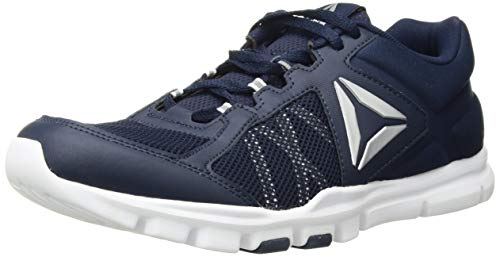 Reebok Men's Yourflex Train 9.0 XWIDE Cross-Trainer Shoe, Black/Skull Grey/White/Pewter, 10 4E US