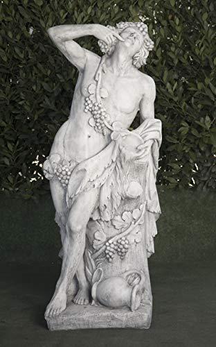 Estatua clásica de Hormigón Baco 47x40x140cm. - Peso: 270Kg. - Figura, Escultura Romana Estilo jardín Ingles. - Hecho en España.