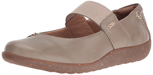 Clarks Women's Medora Elie Mary Jane Flat, Sage Leather, 8.5 M US
