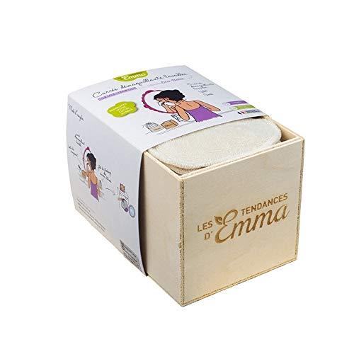 Les Tendances d'Emma - Kit Eco Belle Bois - 15 carrés démaquillants - Biface coton Bio