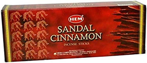 Hem Sandal Cinnamon Incense Sticks - 200 Sticks - Bulk Box - Fresh Batch