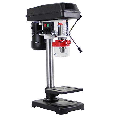 XIONGGG 370W Drill Press Bench Mini Workbench Wood Drilling Machine 1.5-13Mm, Home Electric Drill Tool