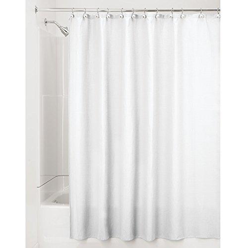 Price comparison product image iDesign York Cotton Blend Luxury Shower Curtain,  183 x 183 cm - White