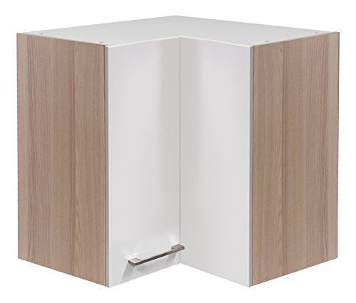 Flex Well 00007138 Eck-Oberschrank Abaco Perlmutt glänzend, Akazie 60 x 54,8 x 60 cm