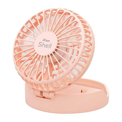 iFan ShellL アイファン シェルエル 2020 充電式パワフルモバイルファン (ピンク)