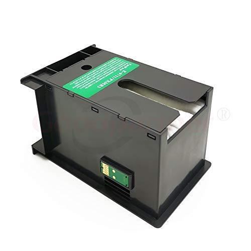 Neigei Accesorios de Impresora 2X Compatible con Epson WF 7110 7210 7510 7610 7615 7620 7710 7715 7720 3010 3520 3530 3540 3620 L1455 ET-16500 Caja de Mantenimiento de Tinta T6711