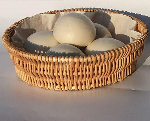 MAALYWD Placa De Ratán cestas Mimbre Decoracion Cesta De Almacenamiento Tejida Cesta De Mimbre Redonda Mimbre Pequeña Fruta Enredada Cesta De Fruta Azul Regalo Jardín Medio