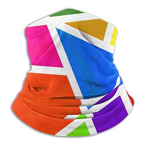 ShiHaiYunBai Tour de Cou Cagoule Microfibre Chapeaux Tube Masque Visage, Winter Neck Mask,Geometric Blocks Reversible Ear Headband Mask Ultimate Thermal Retention Versatility,for Men