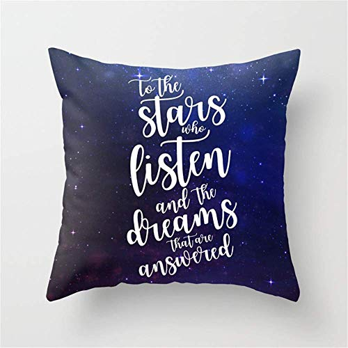 to The Stars who Listen and The Dreams That Are Answered - Rhysand Throw Pillow Case Cushion Cover 18 X 18 Inches