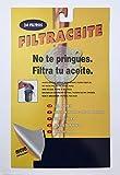 Filtro de Aceite Cocina| Papel Blanco | para aceiteras y graseras | Talla única | 24 Unidades