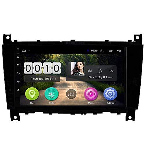 SADGE Multimedias Auto 9 Pulgadas de Coches estéreo Android - Aplicable para Mercedes Benz Clase G-W209 CLK AMG Radio Reproductor de MP3 WiFi Bluetooth GPS Navigator