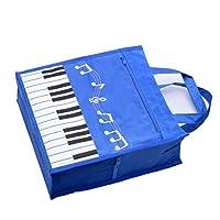 Piano Keys Handbag Reusable Grocery Bag Shoulder Shopping Bag Tote Bag for Music Teacher Girls Gift Bag (Piano Keys Handbag Blue) [並行輸入品]