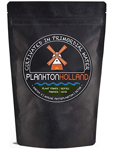 Marine Phytoplankton Powder 120 Gram   1-2 Month Supply   High Dosage   100% Pure   Omega-3   Vegan   Detox   Refill