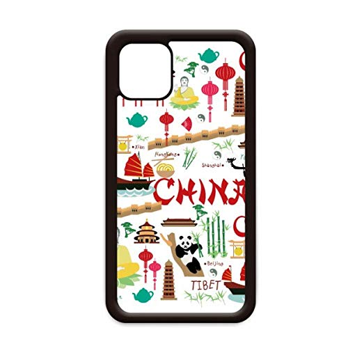 China Bamboe Lantaarn Panda voor Apple iPhone 11 Pro Max Cover Apple mobiele telefoonhoesje Shell, for iPhone11 Pro