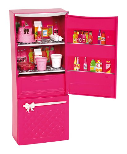 Mattel Barbie X7937 - Möbel Sortiment Kühlschrank, befüllt