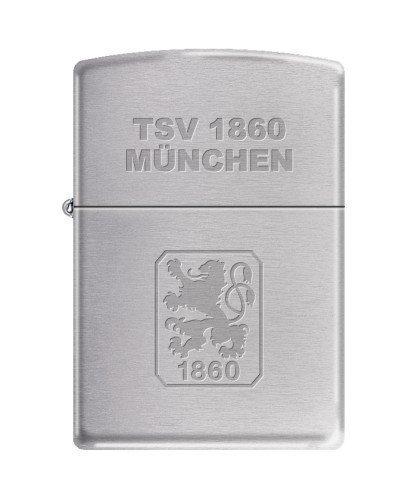 Zippo 2.003.196 Feuerzeug TSV 1860 München Offizielles Lizenz, Chrom Brushed