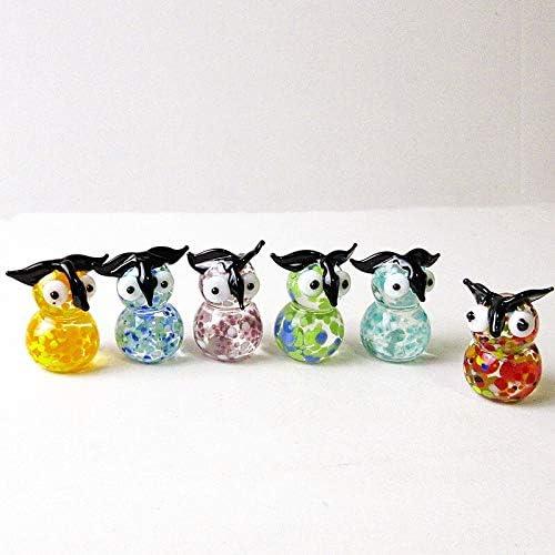 LiuliuBull L 6pcs Product Custom Tooarts Statue Max 90% OFF Murano Colorful Gift Owl