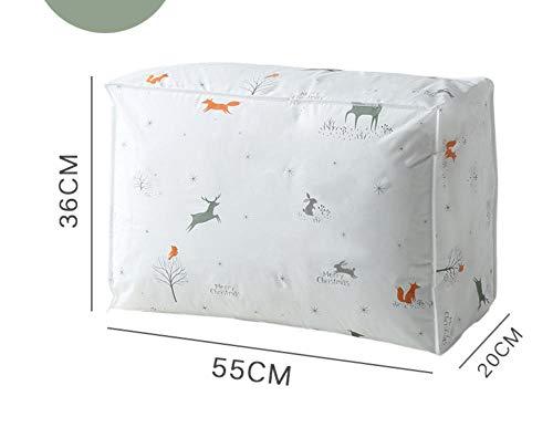 YAOUYYYSN - Bolsa de almacenamiento de colchas, antimoho, impermeable, impermeable, bolsa de clasificación para embalaje, equipaje, bolsa para el polvo, hojas móviles, 55 x 20 x 36 cm