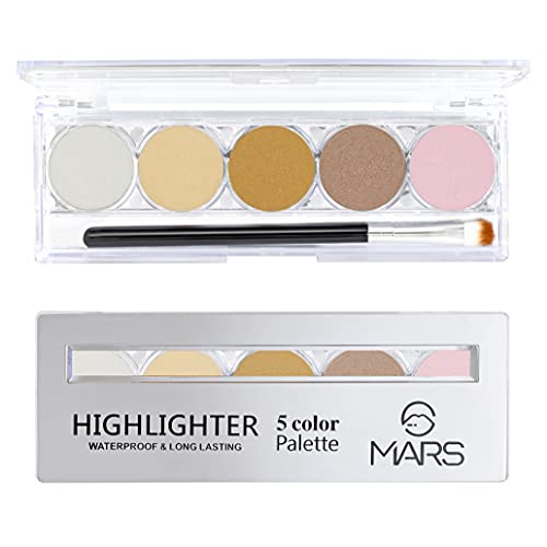 Mars 5 Color Waterproof Contour Palette 9547-02 With Free Adbeni...