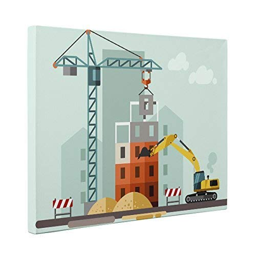 Job Site Construction CANVAS SEAL limited product Art Max 90% OFF Home Wall Décor